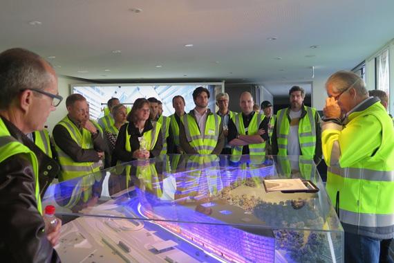 Besuch der Baustelle Circle auf dem Flughafen Zürich